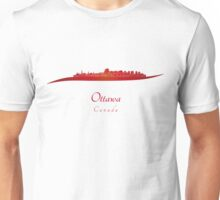 Ottawa skyline in red Unisex T-Shirt