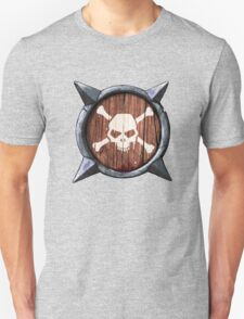 Spiked Shield Skull Crossbones Logo AAARG! Unisex T-Shirt