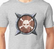 Spiked Shield Skull Crossbones Logo AAARG! Unisex T-Shirt