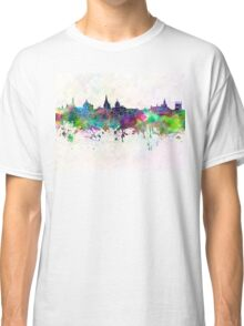 Oxford skyline in watercolor background Classic T-Shirt