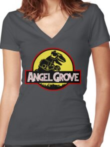We Have a T-Rex, Too! Women's Fitted V-Neck T-Shirt