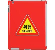 Danger Warning Sign, South Korea iPad Case/Skin