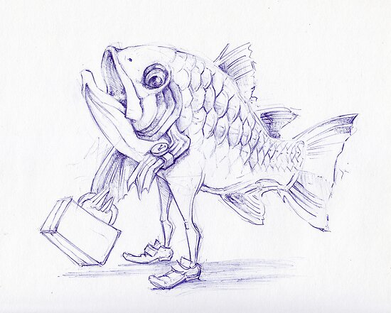 Fishy Sketch by Ellen Marcus