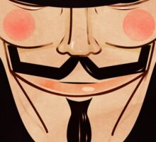 Anonymous Vendetta Red Sticker