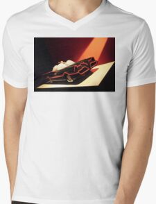 60s Lego Batmobile Mens V-Neck T-Shirt