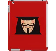 Anonymous Vendetta Red iPad Case/Skin