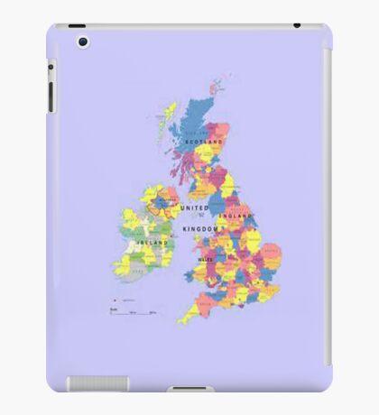 Map of the United Kingdom iPad Case iPad Case/Skin