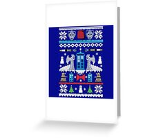 Angel Doctor Who Sweater Greeting Card