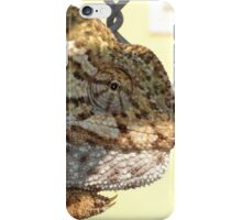 Chameleon Hanging On A Wire Fence iPhone Case/Skin