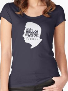 Mark Kermode - and hello to Jason Isaacs  Women's Fitted Scoop T-Shirt