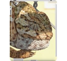 Chameleon Hanging On A Wire Fence iPad Case/Skin