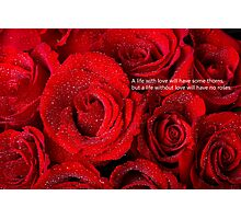 Life Without Love Will Have No Roses Photographic Print