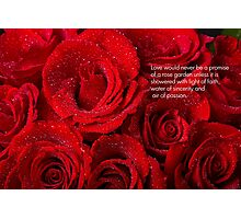 Love Would Never Be a Promise of a Rose Garden  Photographic Print