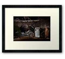 1939 Indian Chief at an old garage Framed Print