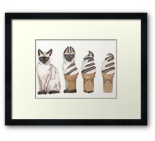 Cat On a Cold Tin Roof Framed Print