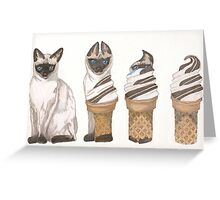 Cat On a Cold Tin Roof Greeting Card