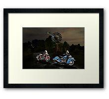 Moonlight Indian Chief Framed Print