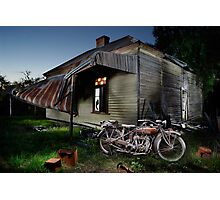 Unrestored 1924 Indian Chief and Australian farm house Photographic Print