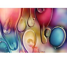 Drips of Colour Photographic Print