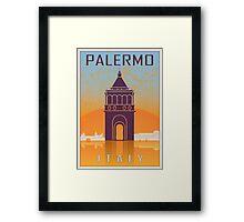 Palermo vintage poster Framed Print