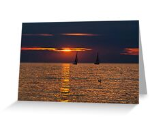 Summer Sunset on the Baltic Sea Greeting Card