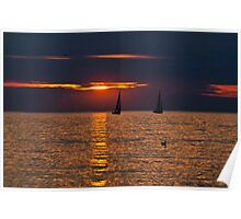 Summer Sunset on the Baltic Sea Poster