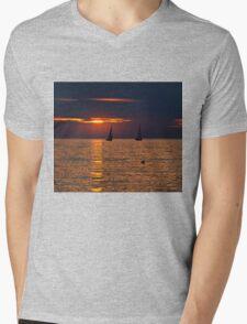 Summer Sunset on the Baltic Sea Mens V-Neck T-Shirt