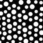 Black And White Polka Dots IPhone and Ipod Cases by Clickcreations
