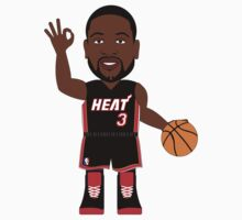 NBAToon of Dwyane Wade, player of Miami Heat by D4RK0