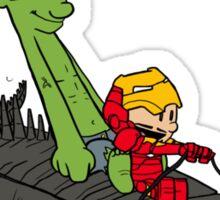 Tony and Hulk Sticker