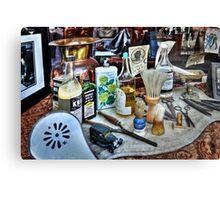 Barber Shop Tools Canvas Print