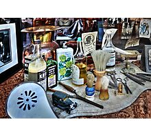 Barber Shop Tools Photographic Print