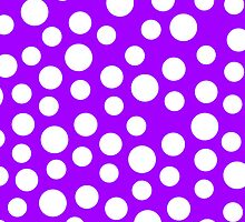 Polka dots Purple Iphone and Ipod Cases  by Clickcreations