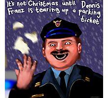 Dennis Frantz at Christmas Photographic Print