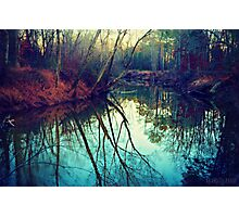 The Darkened Stream Photographic Print