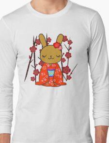 Kimono Bunny! Usahime the Rabbit Long Sleeve T-Shirt