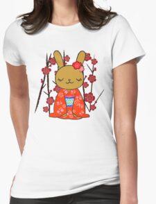 Kimono Bunny! Usahime the Rabbit Womens Fitted T-Shirt
