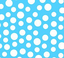Polka dots Baby Blue Iphone and Ipod Cases  by Clickcreations