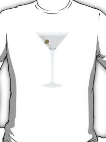 Blue Martinis Pattern T-Shirt