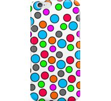 Multi-colored Polka dots White Iphone and Ipod Cases  iPhone Case/Skin