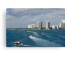 Miami: The Chase Canvas Print