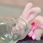 Bunny Collection #8 - a bunny with a bottle by Cyndy Ejanda