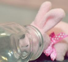 Bunny Collection #8 - a bunny with a bottle by Cyndiee Ejanda