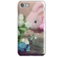 Bunny Collection #6 - a bunny and some more flowers iPhone Case/Skin