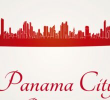 Panama City skyline in red Sticker