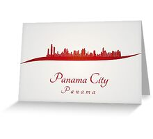 Panama City skyline in red Greeting Card