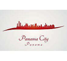Panama City skyline in red Photographic Print