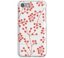 Red rowanberry pattern iPhone Case/Skin