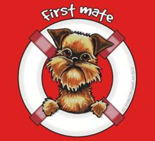 Brussels Griffon :: First Mate One Piece - Long Sleeve
