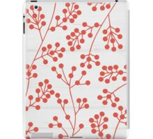 Red rowanberry pattern iPad Case/Skin